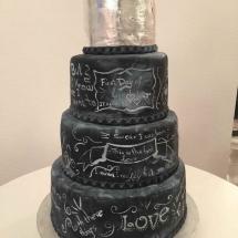 Chalkboard torte