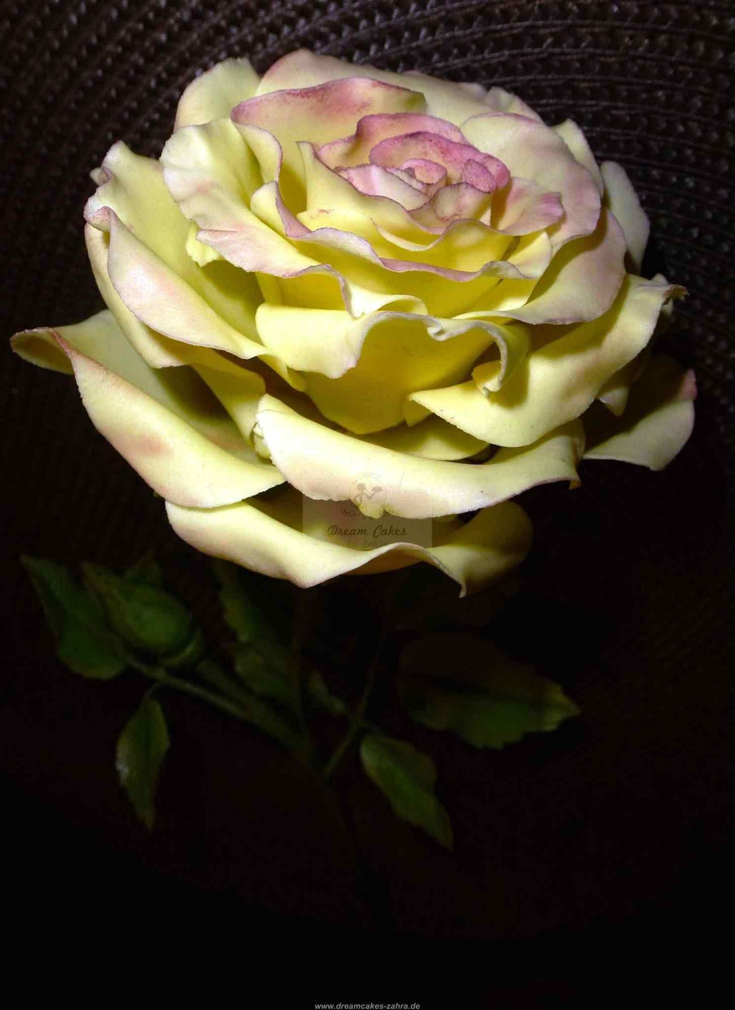 Rose aus Blütenpaste